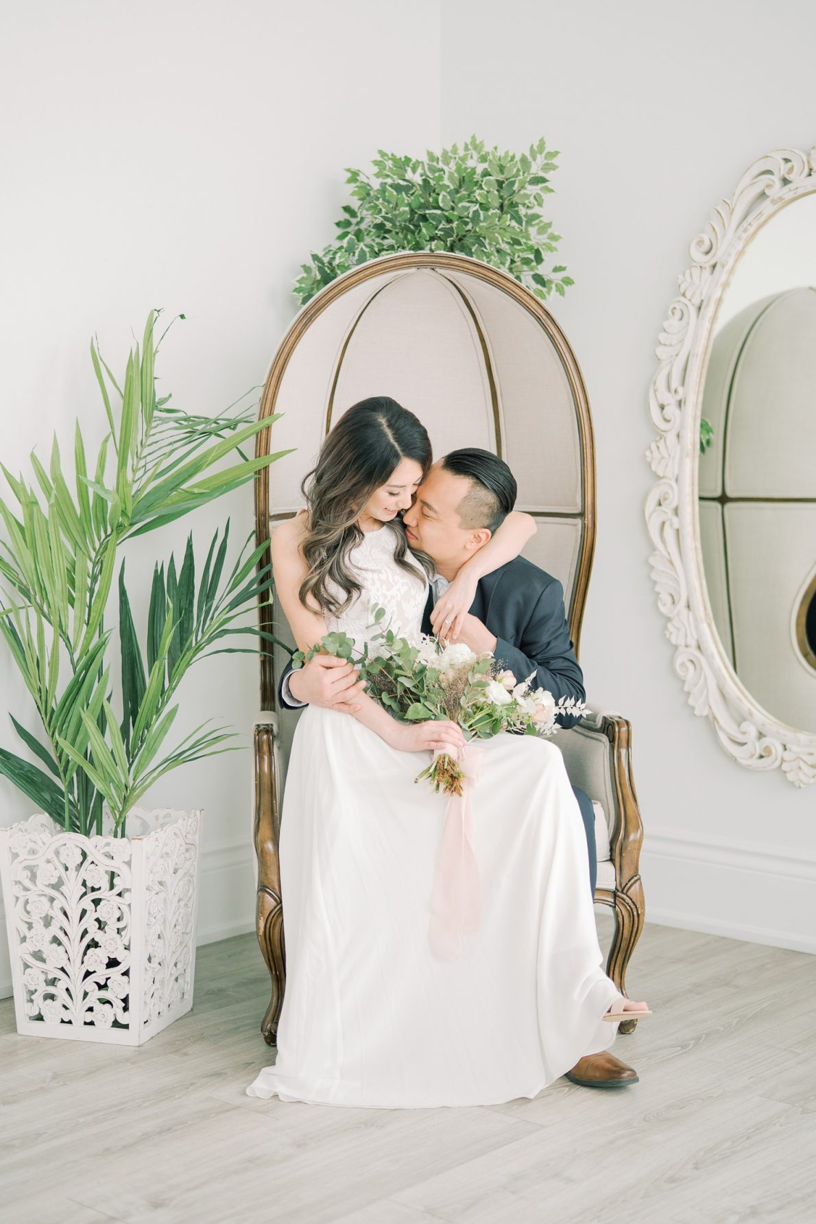 Bright and indoor Dreamy Toronto Engagement Photos Mint Room Studio Conservatory