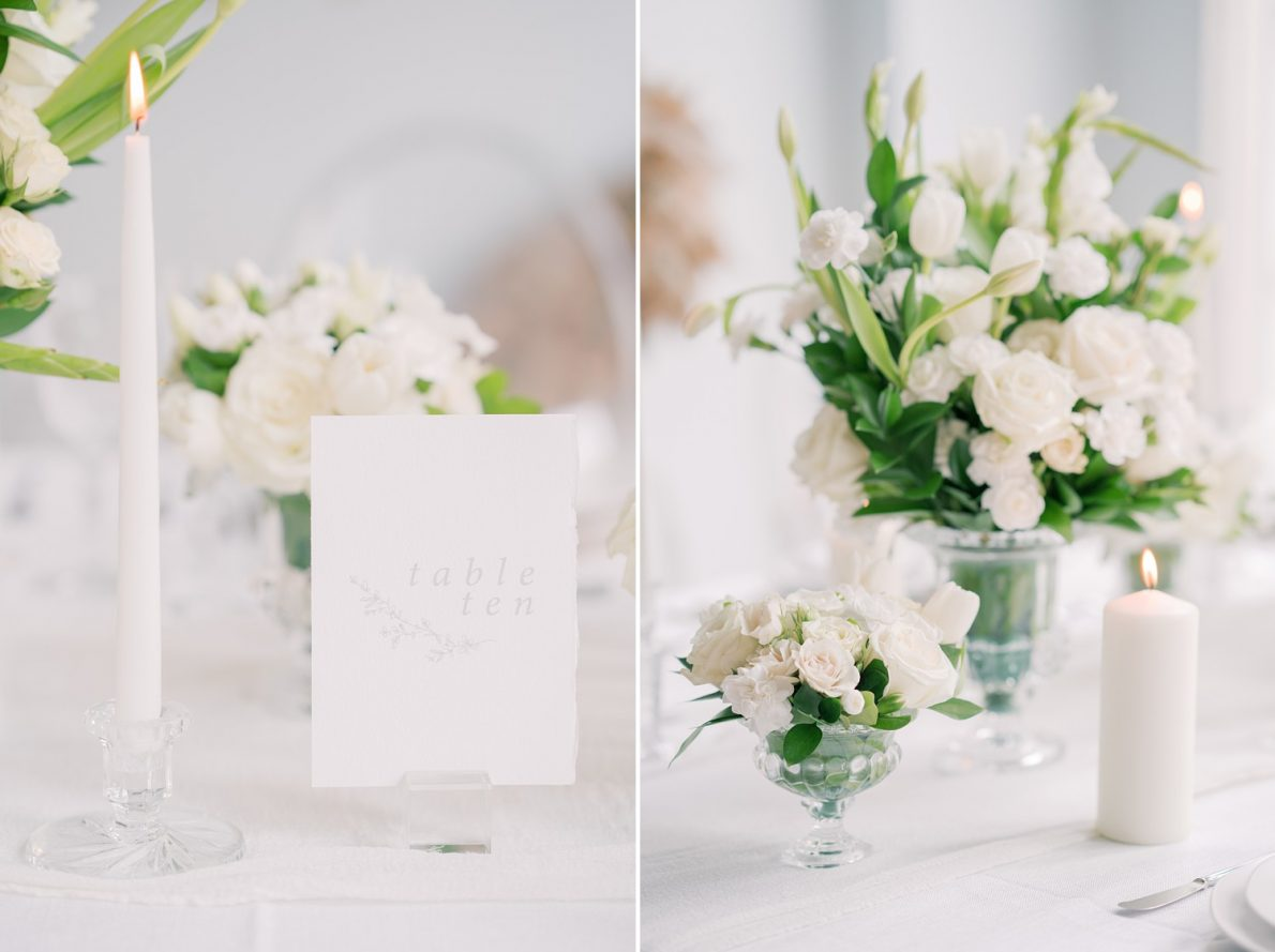 Table Numbers and design The Richmond Toronto Wedding Photo