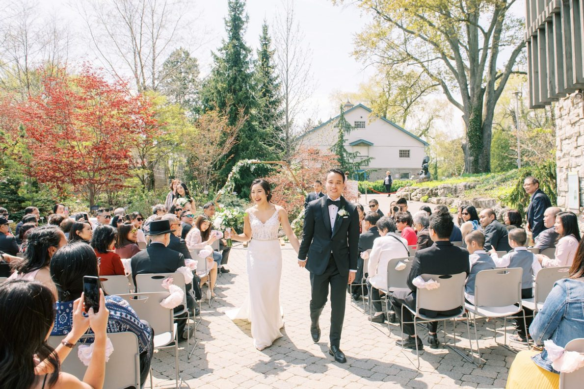 Just married at Edwards Garden and Toronto Botanical Garden Wedding Photos