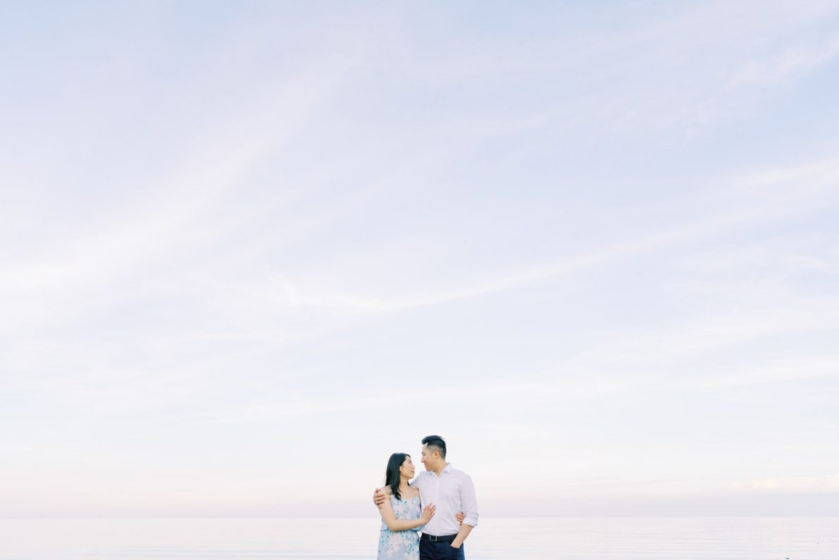 Toronto Scarborough Bluffs Beach Engagement Photos