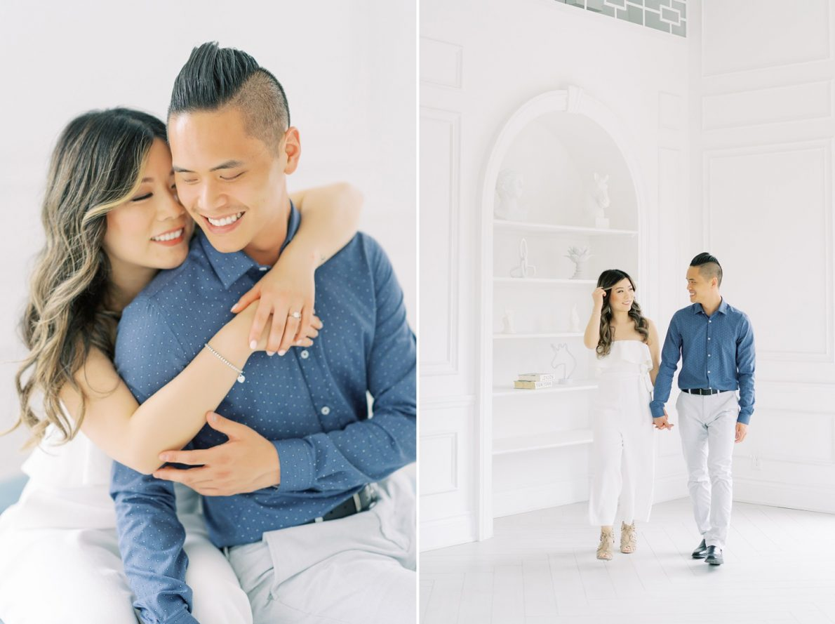 Mint Room Studio White Loft Dreamy Bright and Airy Toronto Engagement Photos