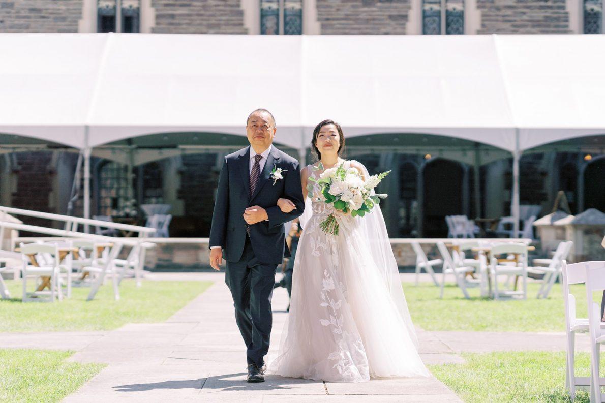 University of Toronto Hart House Outdoor Courtyard Ceremony Photos Toronto Wedding Photos