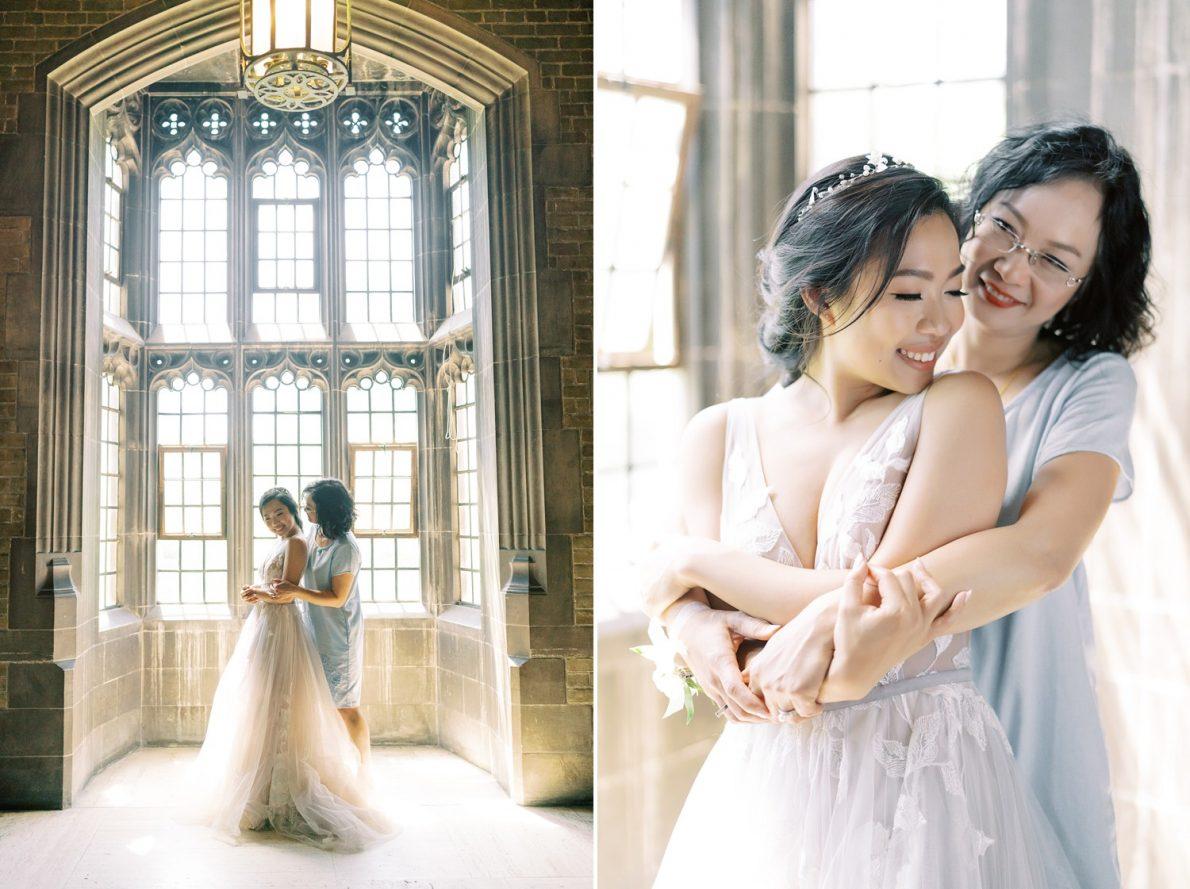 University of Toronto Hart House Mom and daughter Toronto Wedding Photos