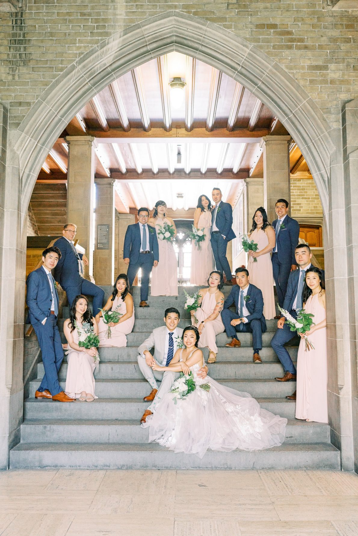 University of Toronto Hart House Wedding Party Toronto Wedding Photos