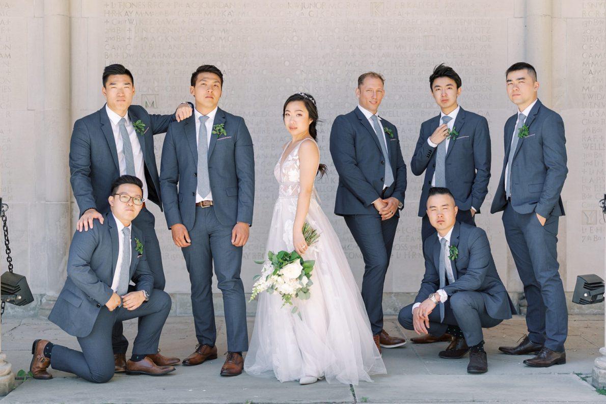 University of Toronto Hart House Groomsmen Toronto Wedding Photos