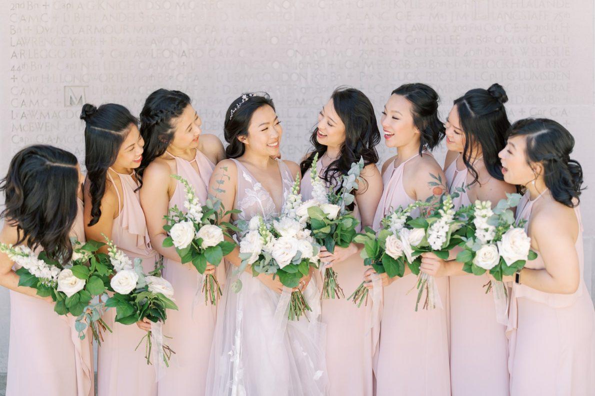 University of Toronto Hart House Bridal Party Toronto Wedding Photos