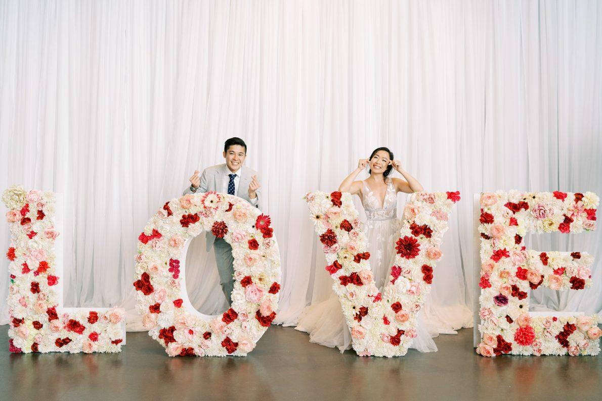 Yorkmills Gallery Love Sign Grand Entrance Toronto Wedding Photos