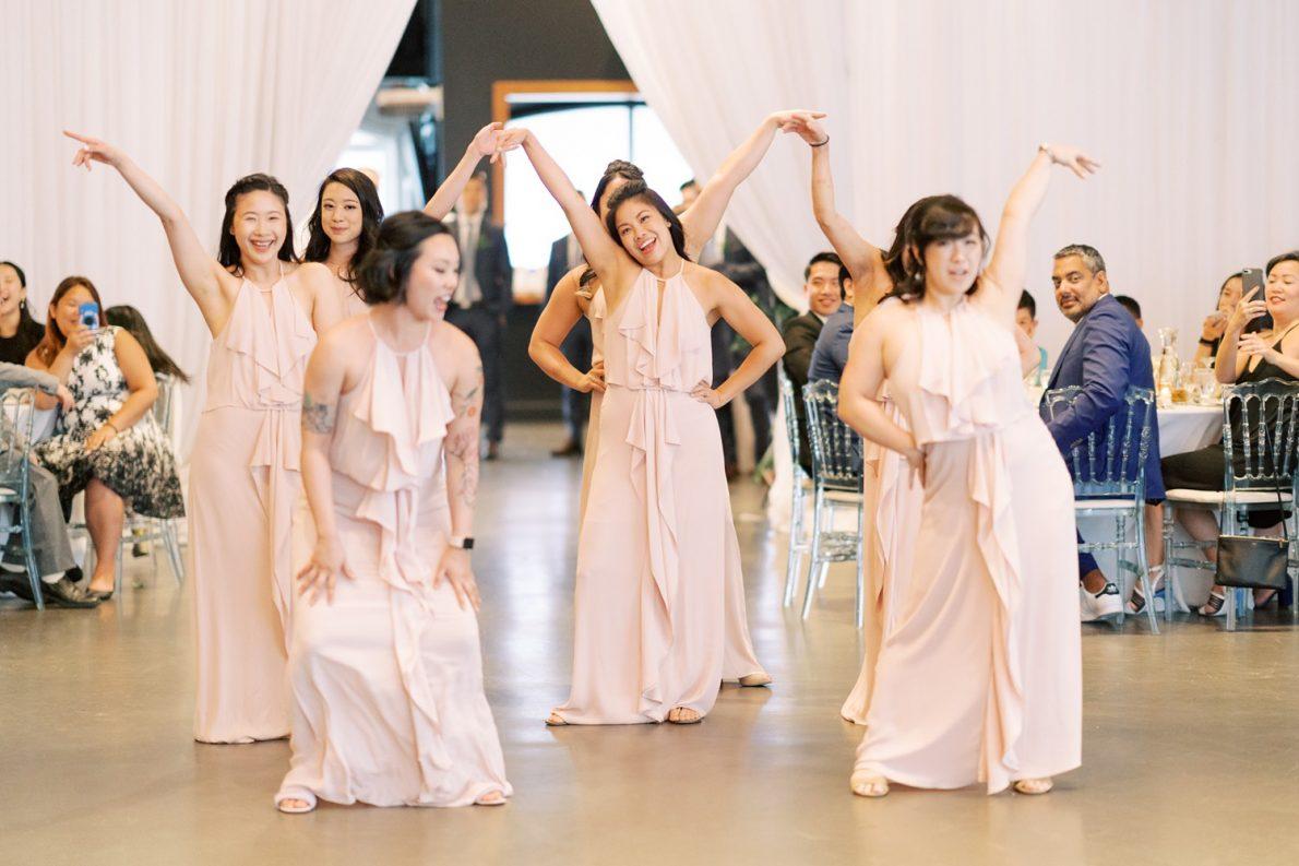Yorkmills Gallery Fun Wedding Party Grand Entrance Toronto Wedding Photos