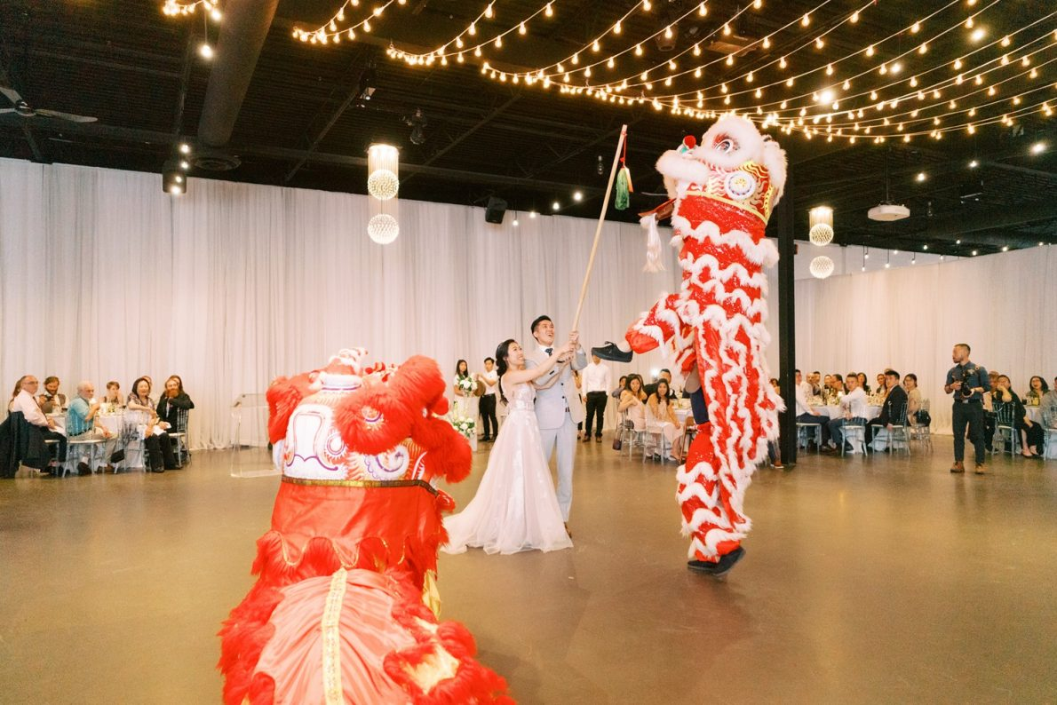 Yorkmills Gallery Lion Dance Performance Toronto Wedding Photos