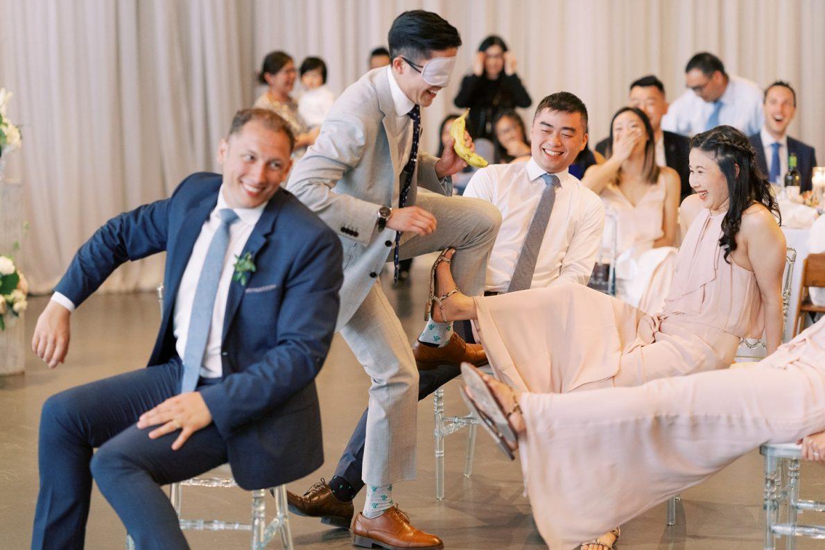 Yorkmills Gallery Reception Games Toronto Wedding Photos