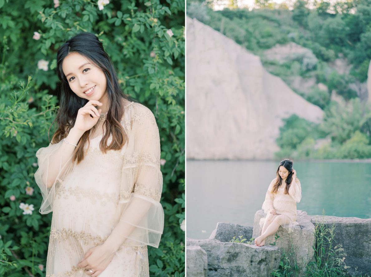 Scarborough Bluffs Toronto Beach Maternity Photos