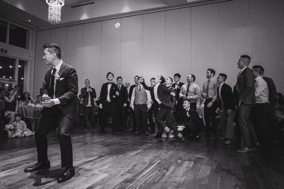 Guild Inn Estates Garter Toss Toronto Wedding Photographer