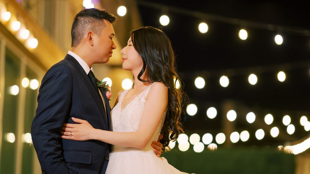 Guild Inn Estates Patio Lights Toronto Wedding Photographer