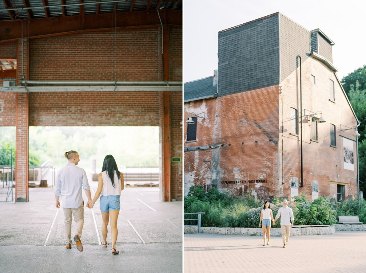 Evergreen Brickworks Sunset Toronto Engagement Photos